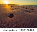 sunset of donegal beach ireland   Shutterstock . vector #1132130489