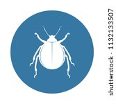 beetle icon. element of insect... | Shutterstock .eps vector #1132133507