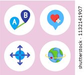 simple 4 icon set of location... | Shutterstock .eps vector #1132141907