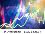 showing the trading graph over... | Shutterstock . vector #1132152614