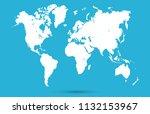 world map vector | Shutterstock .eps vector #1132153967