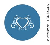 heart ornament icon. element of ... | Shutterstock .eps vector #1132156307