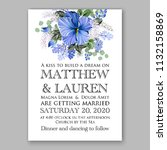 floral wedding invitation or... | Shutterstock .eps vector #1132158869