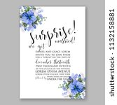 floral wedding invitation or... | Shutterstock .eps vector #1132158881