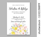 floral wedding invitation or... | Shutterstock .eps vector #1132158899