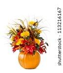 Pumpkin Flower Arrangement Over ...