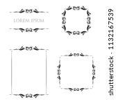 vintage floral frames borders... | Shutterstock .eps vector #1132167539