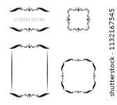 vintage floral frames borders... | Shutterstock .eps vector #1132167545