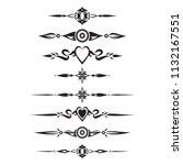 decorative text divider... | Shutterstock .eps vector #1132167551