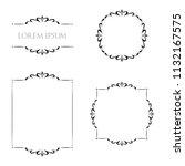 vintage floral frames borders... | Shutterstock .eps vector #1132167575