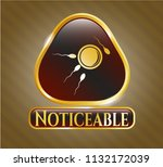 golden emblem or badge with... | Shutterstock .eps vector #1132172039