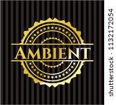 ambient gold badge or emblem | Shutterstock .eps vector #1132172054