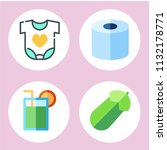 simple 4 icon set of health... | Shutterstock .eps vector #1132178771