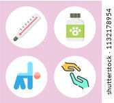 simple 4 icon set of health... | Shutterstock .eps vector #1132178954