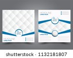 square flyer design. a cover... | Shutterstock .eps vector #1132181807