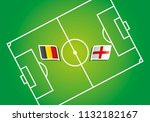 belgium vs england flags soccer ... | Shutterstock .eps vector #1132182167
