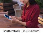 weather forecast. modern... | Shutterstock . vector #1132184024
