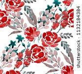watercolor seamless pattern... | Shutterstock . vector #1132184384