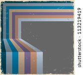 retro abstract background... | Shutterstock .eps vector #113219419