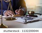 law gavel stethoscope health... | Shutterstock . vector #1132200044
