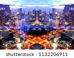 backdrop of complex network... | Shutterstock . vector #1132206911