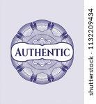 blue passport money style... | Shutterstock .eps vector #1132209434