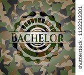 bachelor on camo texture   Shutterstock .eps vector #1132213301