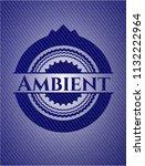 ambient emblem with denim high... | Shutterstock .eps vector #1132222964