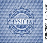 physician blue badge with... | Shutterstock .eps vector #1132229804