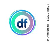 letter df logo with colorful...   Shutterstock .eps vector #1132240577