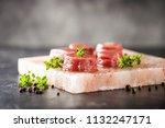 raw steak ribeye on himalayan... | Shutterstock . vector #1132247171