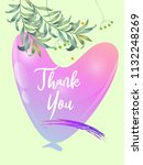 botanic card with monstera leaf ...   Shutterstock .eps vector #1132248269