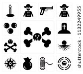 set of 13 simple editable icons ...   Shutterstock .eps vector #1132249955