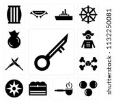 set of 13 simple editable icons ...   Shutterstock .eps vector #1132250081