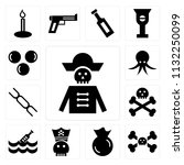 set of 13 simple editable icons ...   Shutterstock .eps vector #1132250099
