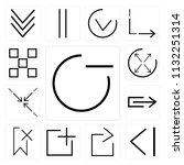 set of 13 simple editable icons ... | Shutterstock .eps vector #1132251314