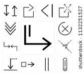 set of 13 simple editable icons ... | Shutterstock .eps vector #1132251527