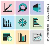 set of 9 simple editable icons... | Shutterstock .eps vector #1132255871