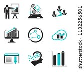 set of 9 simple editable icons... | Shutterstock .eps vector #1132256501