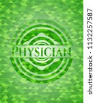 physician green emblem with... | Shutterstock .eps vector #1132257587