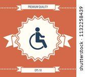 wheelchair handicap icon | Shutterstock .eps vector #1132258439