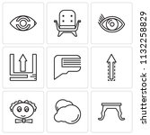 set of 9 simple editable icons...   Shutterstock .eps vector #1132258829