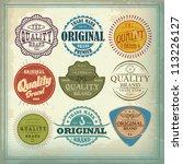 Stock vector vector set vintage labels 113226127