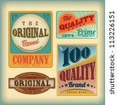 vector set vintage labels | Shutterstock .eps vector #113226151