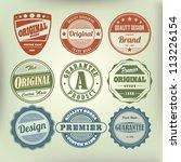 vector set vintage labels | Shutterstock .eps vector #113226154