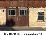 stable buildings bavaria style... | Shutterstock . vector #1132262945