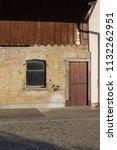 stable buildings bavaria style... | Shutterstock . vector #1132262951