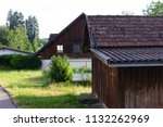 stable buildings bavaria style... | Shutterstock . vector #1132262969