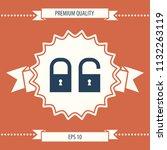 lock  unlock   set  icon | Shutterstock .eps vector #1132263119