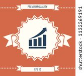 growing bars graphic icon with...   Shutterstock .eps vector #1132269191